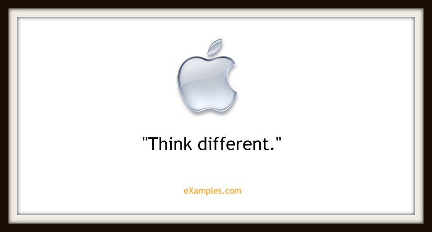 "Apple Inc: ""Think different"""