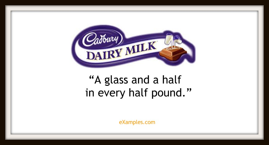 "Cadbury Dairy Milk: ""A glass and a half in every half pound"""