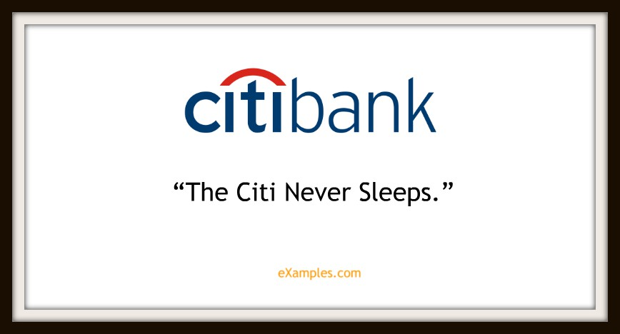 "Citibank: ""The citi never sleeps"""