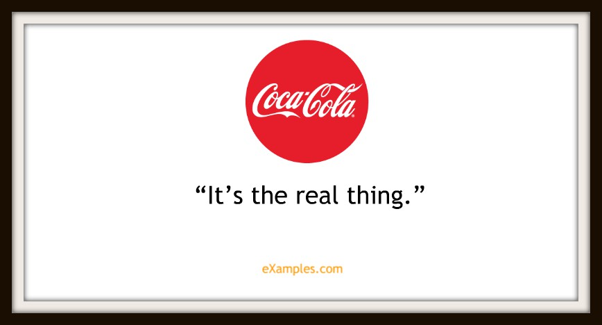 "Coca-Cola: ""It's the real thing"""