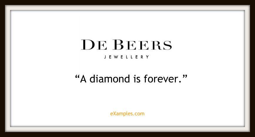 "De Beers: ""A diamond is forever"""