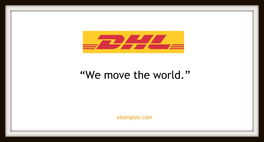 "DHL: ""We move the world"""