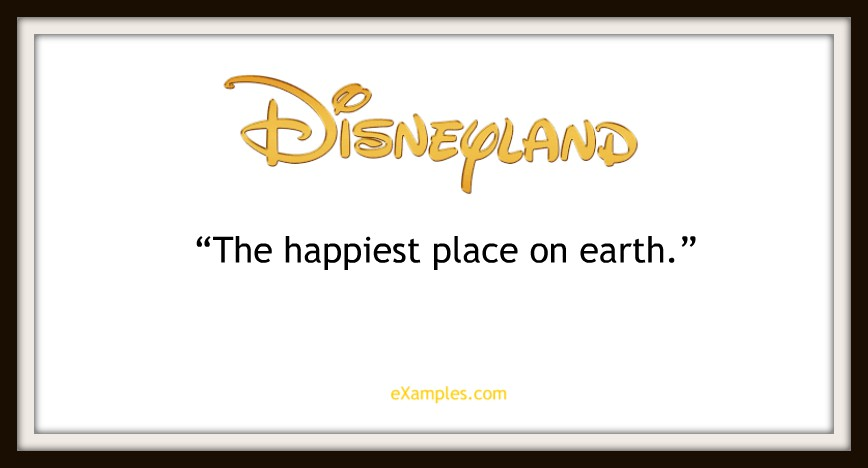 "Disneyland: ""The happiest place on earth"""
