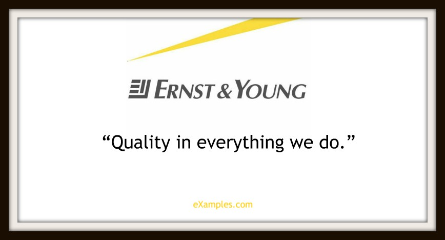 "Ernst & Young: ""Quality in everything we do"""