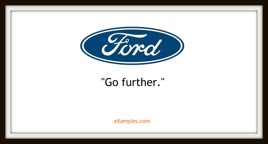 "Ford: ""Go further"""