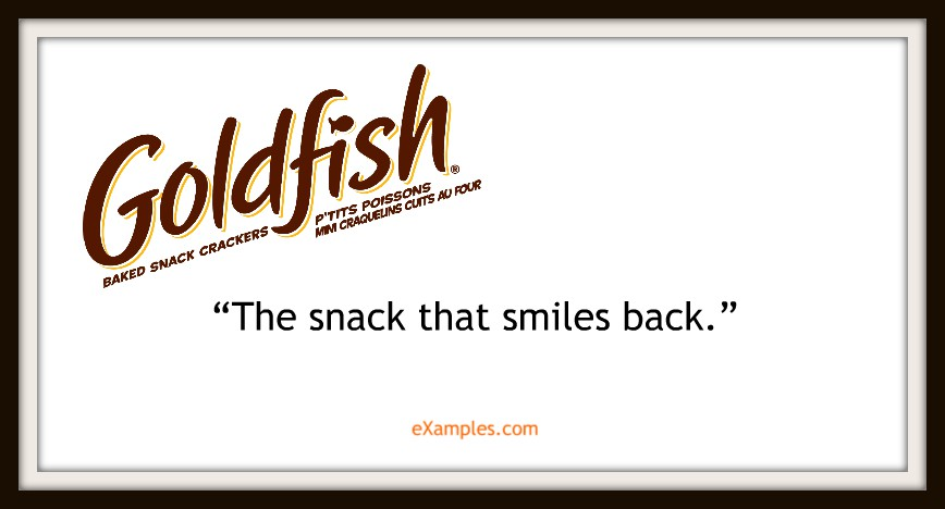 "Goldfish: ""The snack that smiles back"""