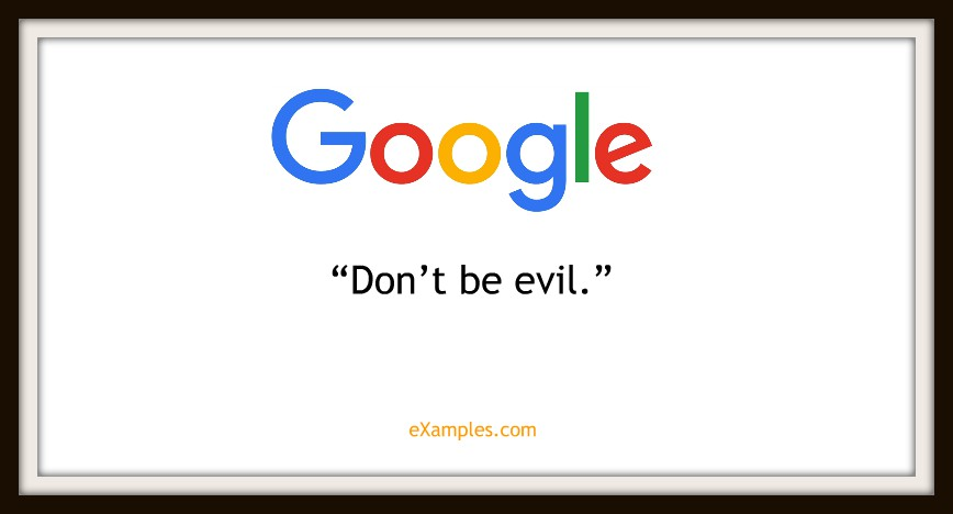 "Google: ""Don't be evil"""