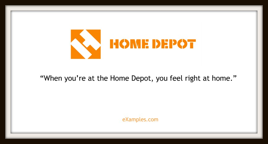 "Home Depot: ""When you're at Home Depot, you"