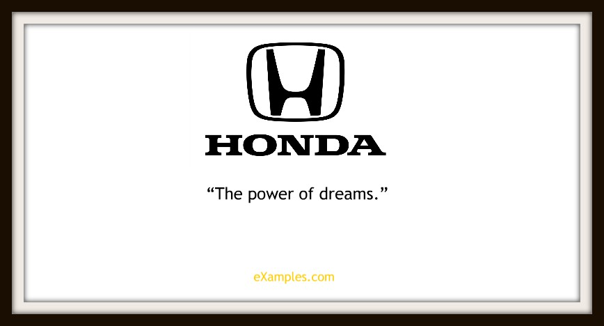 "Honda: ""The power of dreams"""