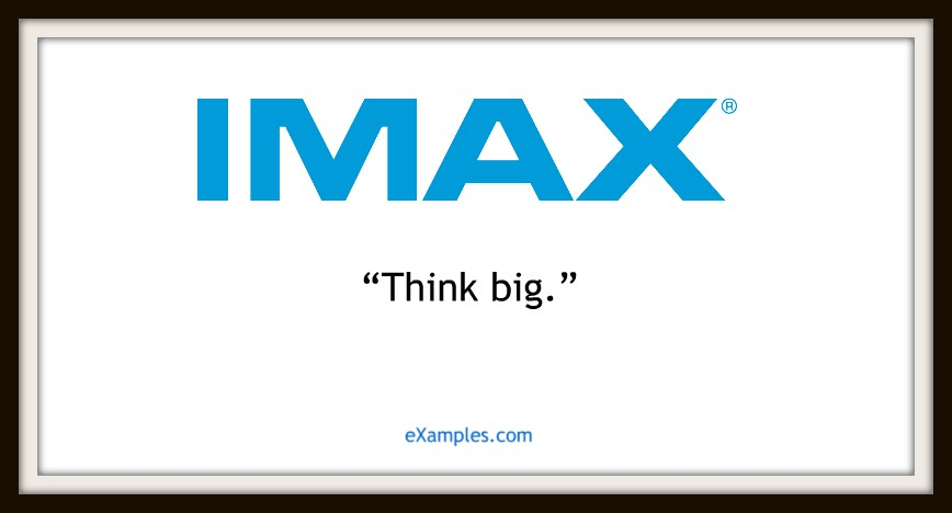 slogan imax