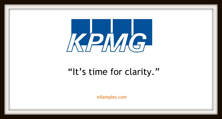 "KPMG: ""It's time for clarity"""