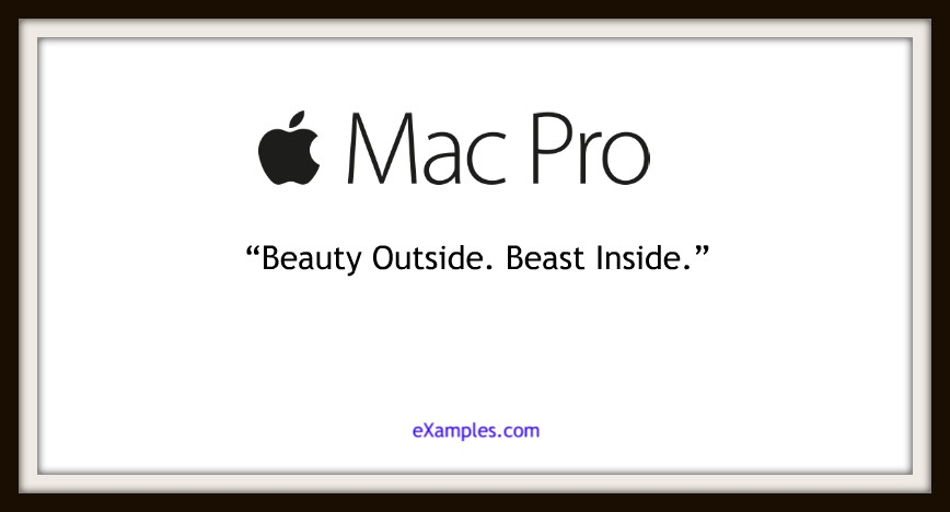 "Mac Pro: ""Beauty Outside. Beast Inside."""