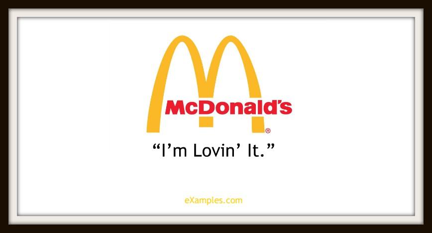 slogan mcdonalds