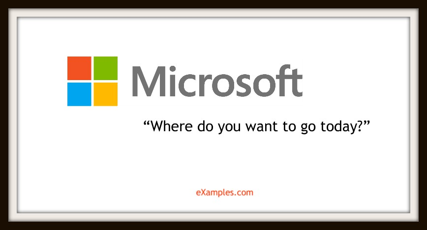 "Microsoft: ""Where do you want to go today?"""