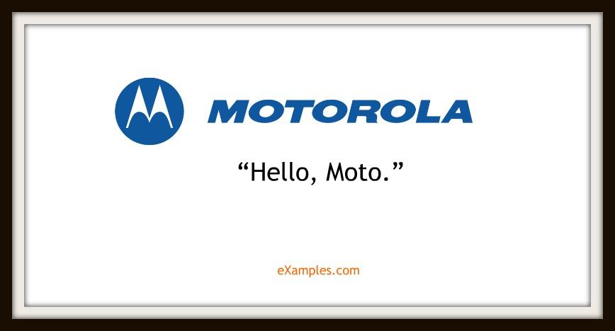 slogan motorola