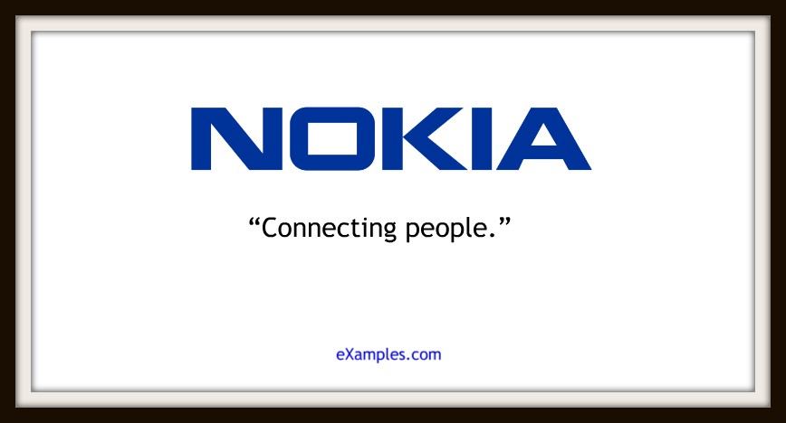 "Nokia: ""Connecting people."""