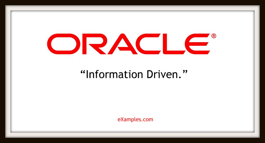 "Oracle: ""Information driven."""