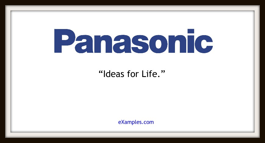 "Panasonic: ""Ideas for life."""