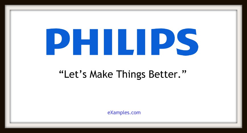 "Philips: ""Let's make things better."""