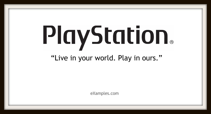 "PlayStation: ""Live in your world. Play in ours."""