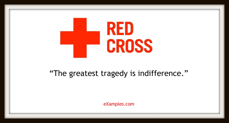 "Red Cross: ""The greatest tragedy is indifference."""