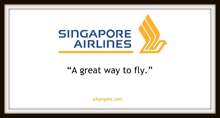 "Singapore Airlines: ""A great way to fly."""