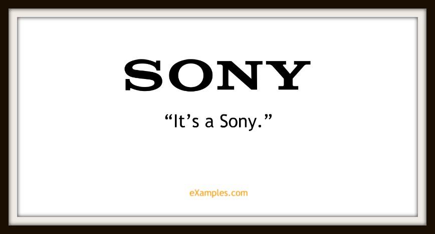slogan sony
