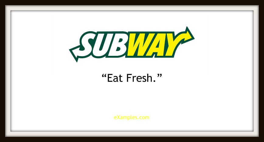 "Subway: ""Eat fresh."""