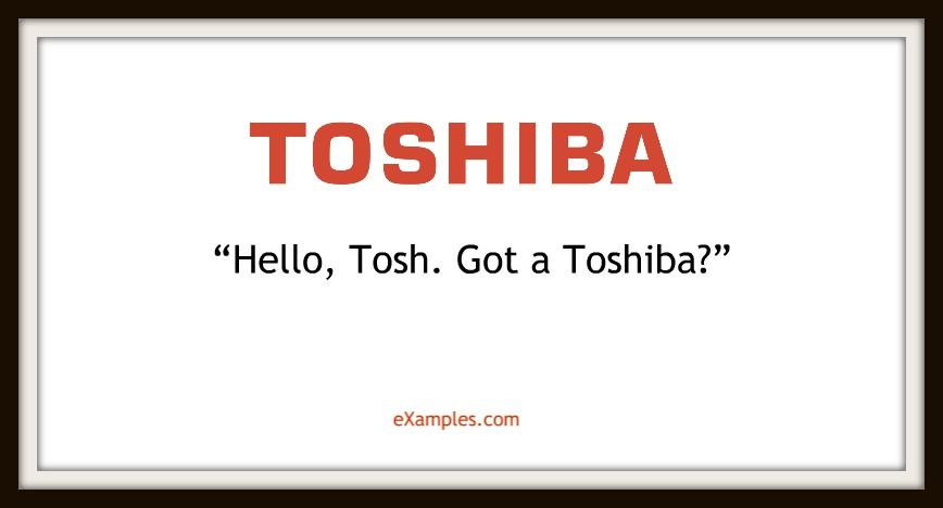 slogan toshiba