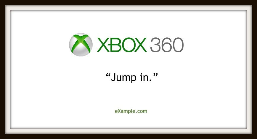 slogan xbox 360