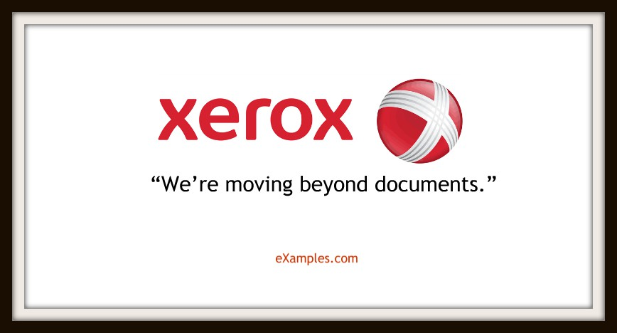 "Xerox: ""We're moving beyond documents."""