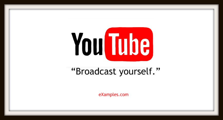 "YouTube: ""Broadcast yourself."""
