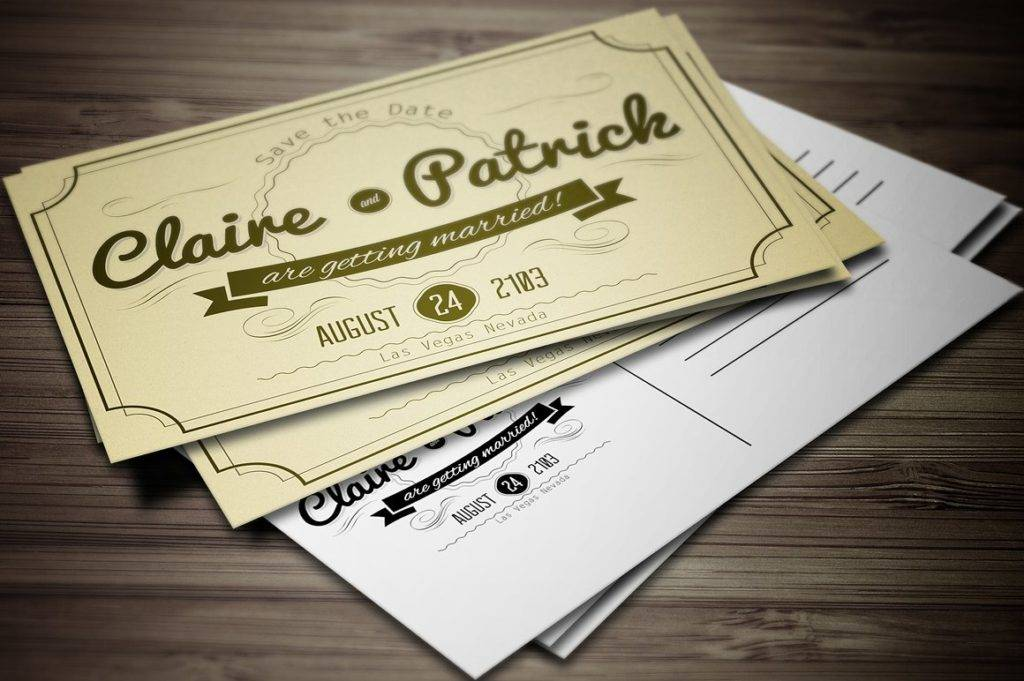 vintage wedding invitation postcard 1024x681