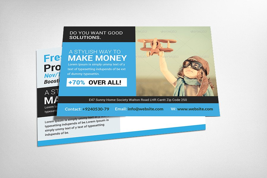 9 corporate postcard designs editable psd format download business marketing postcard template flashek Images