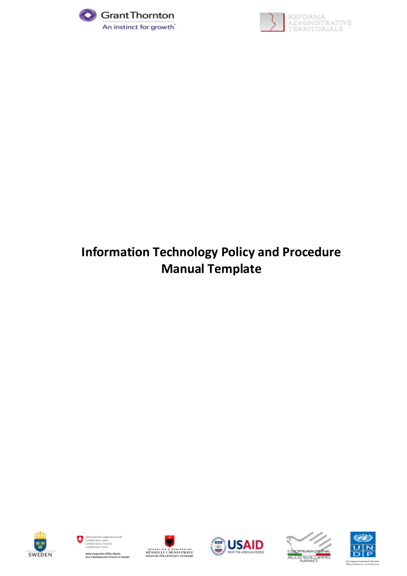1 it policies and procedures manual