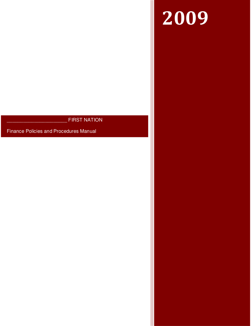 10 finance policies and procedures manual template
