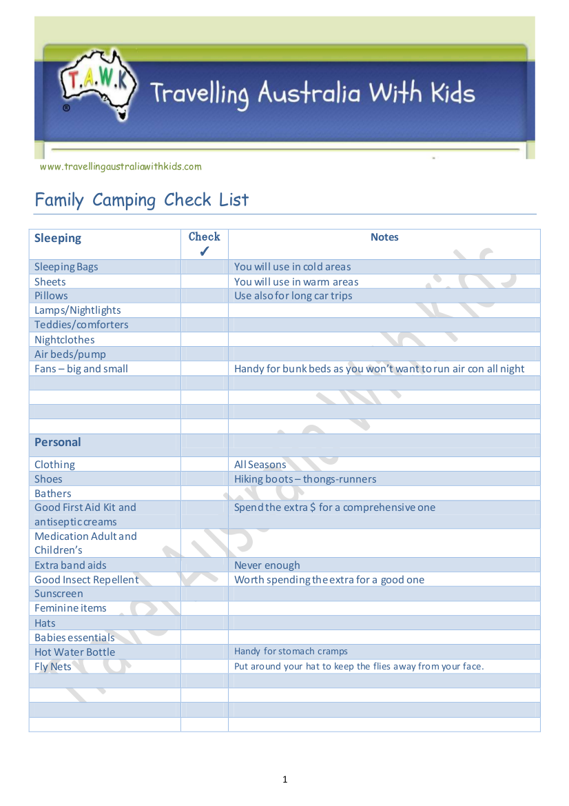 19 Checklists For Camping Examples Samples