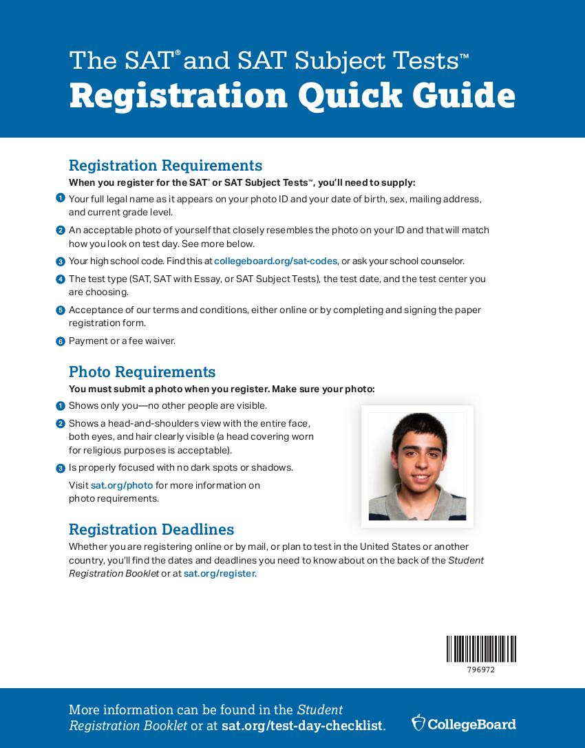 11 pdf sat registration test day checklist flyer