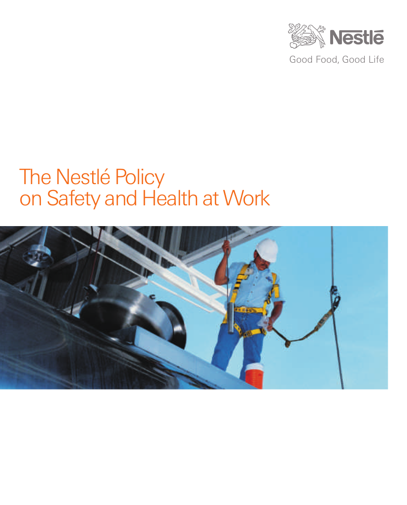 12 policy on safety and health at work