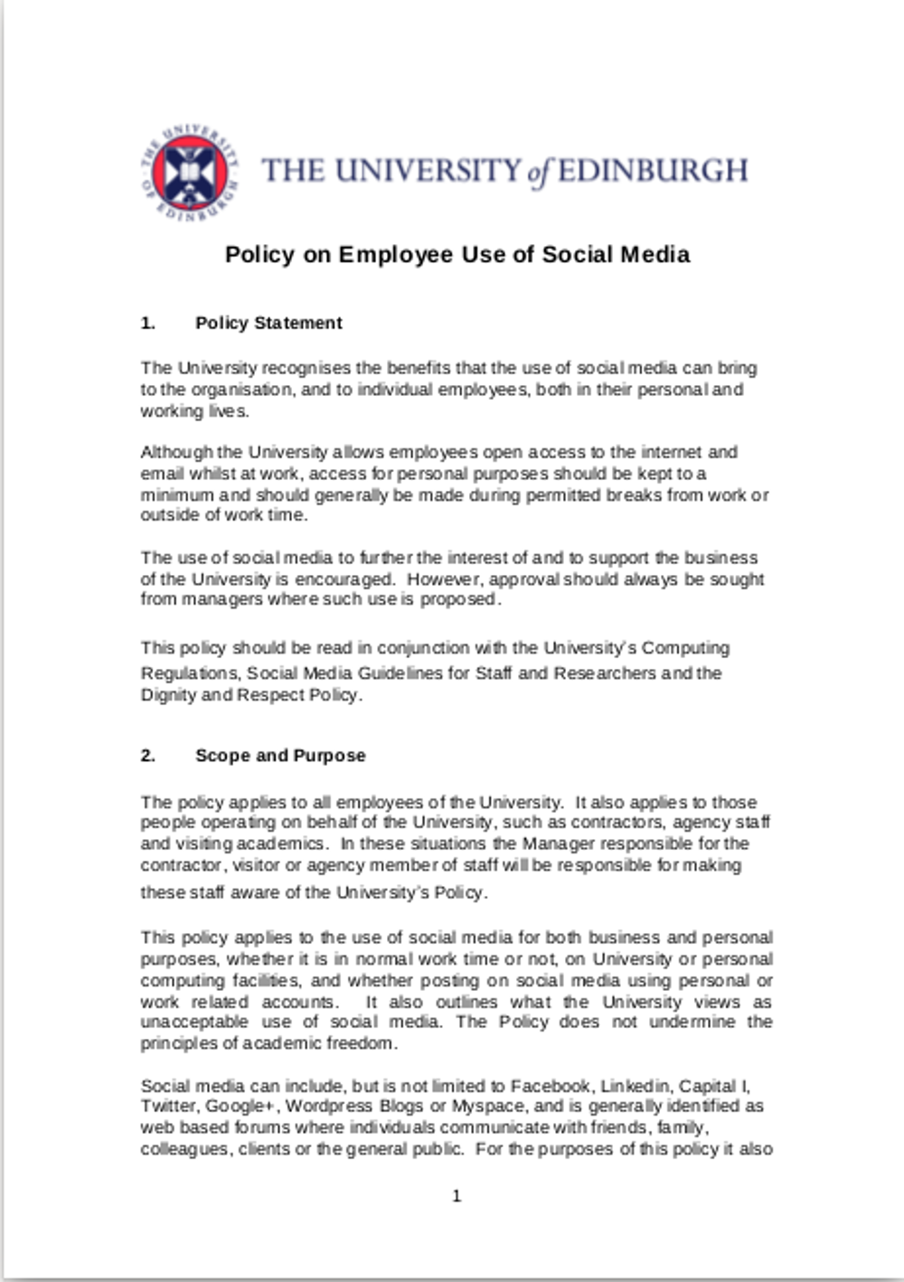 11 Social Media Policy Examples Samples Examples