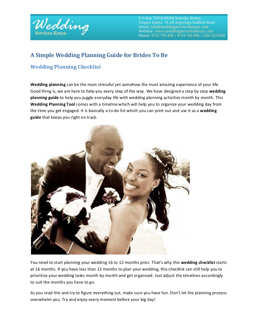 15 a wedding planning guide for brides