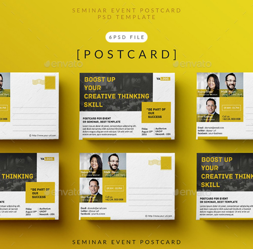 Postcard Templates And Examples - Event postcard template