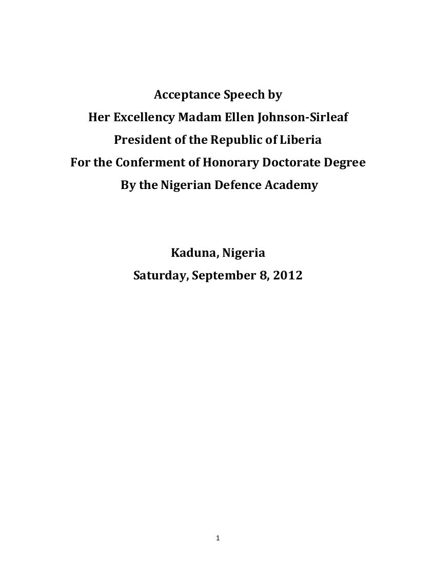 4 acceptance speech
