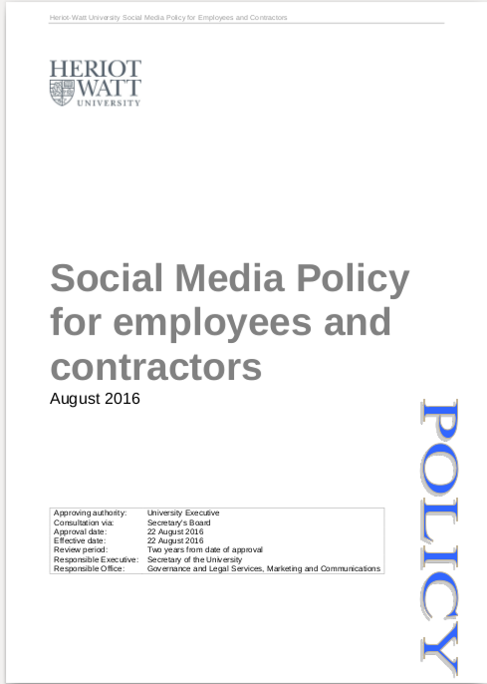Examples Of Social Policy >> Free 13 Social Media Policy Examples In Pdf Google Docs