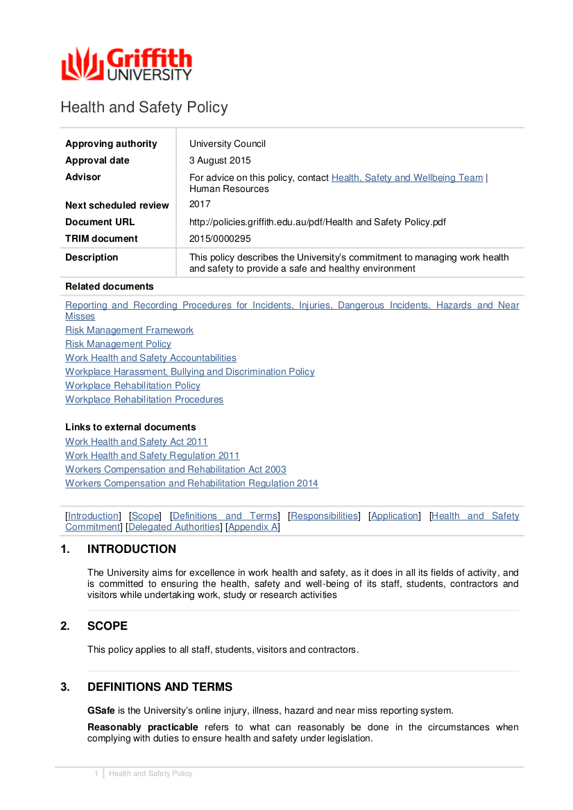 Hse Health And Safety Policy Template 8 Free Workplace Safety Policy Templates PDF Free Premium Templates