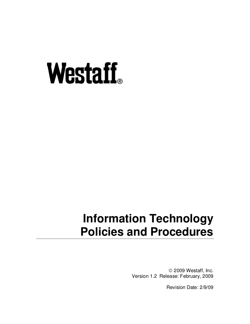 5 Web IT Policies and Procedures v1