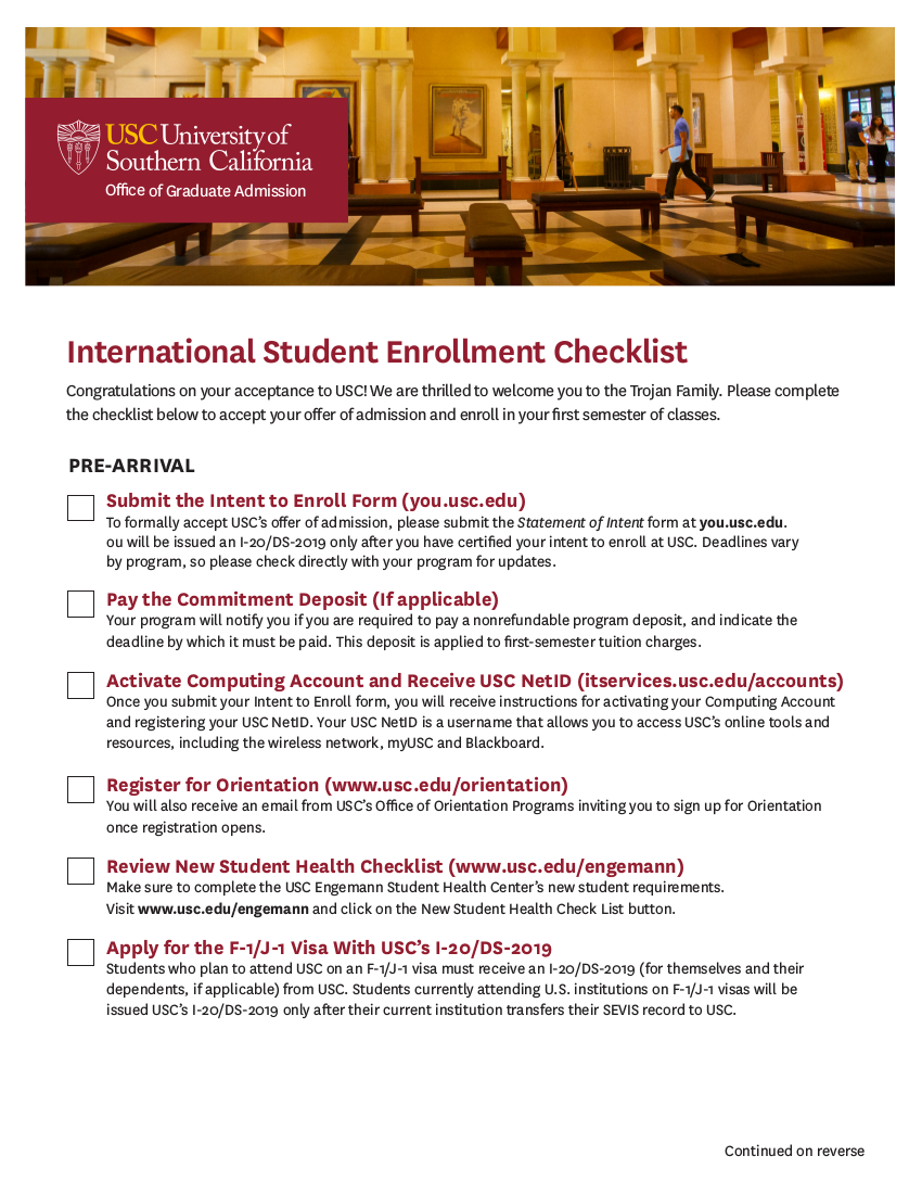 6 internationalstudentenrollchecklist