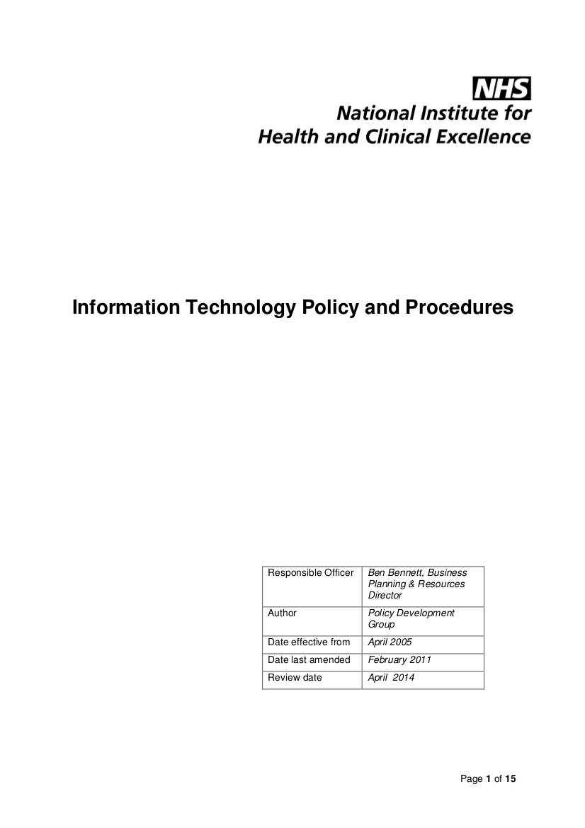 7 information technology policy