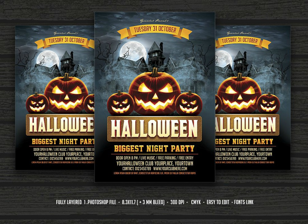 14 examples of halloween flyers