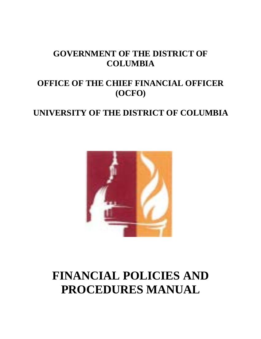 8 udc financial policies and procedures manual